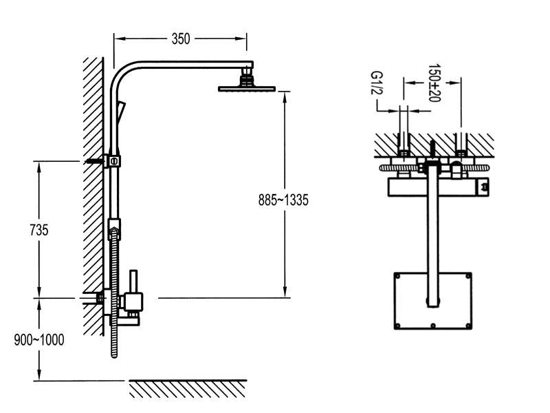 steinberg serie 120 brauseset 2760 mit. Black Bedroom Furniture Sets. Home Design Ideas