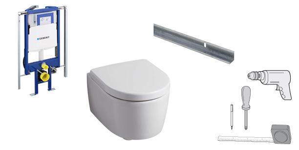 Berühmt Montage eines Wand-WCs: WC einbauen QT17